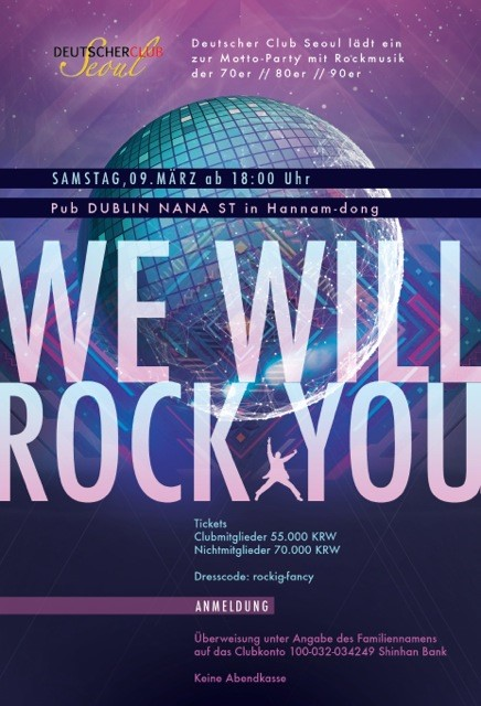 Mottoparty We Will Rock You